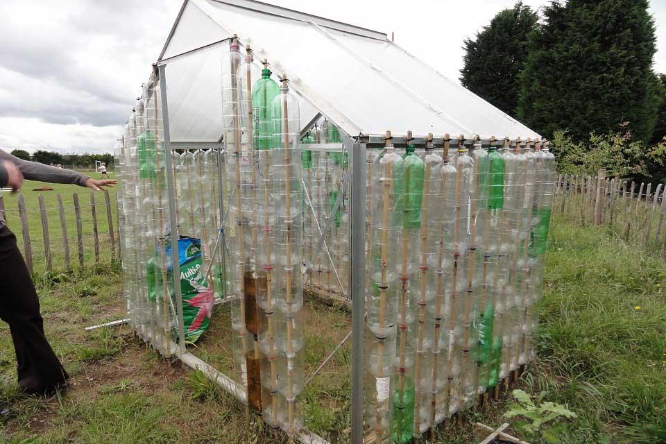 Building a bottle greenhouse / RHS Campaign for Gardening on bottle house plans, bottle bird feeder plans, straw bale dog house plans, plastic bottle boat building plans, bottle gardening, bottle flower plans, bottle hydroponics,