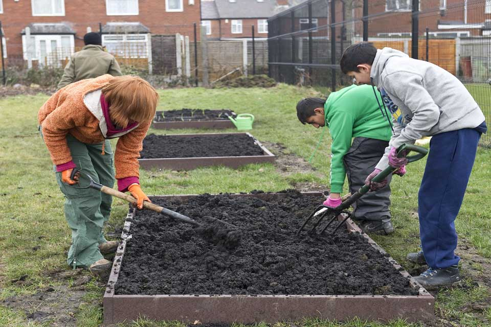 Creating Raised Beds Rhs Campaign For School Gardening